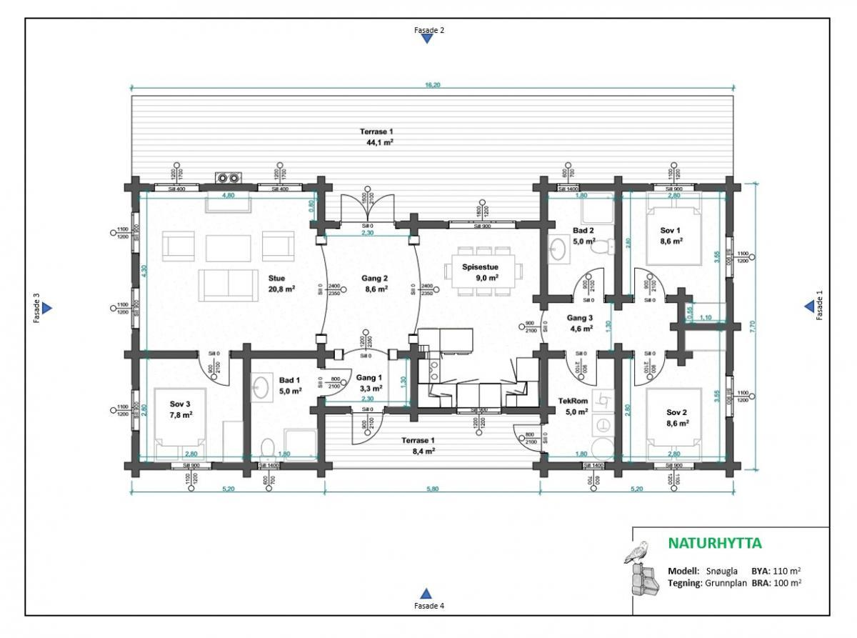 7. Snøugla grunnplan T83 (1)